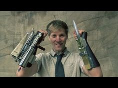 British maker Colin Furze gets his hands dirty (literally) and builds a pair of Assassin's Creed gauntlets that include a deadly hidden blade and a functioning grappling-hook launcher. Assassins Creed, Assassin's Creed Gauntlet, Colin Furze, Assassin's Creed Hidden Blade, Grappling Hook, Tales From The Crypt, Gadgets, Shadow Warrior, Tac Gear