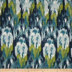 """Premier Prints: Ikat Craze in Birch Frost // $11 per yard // 54"""" medium/heavy weight // machine wash with cold water and mild detergent, air dry, don't dry clean"""