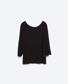Imagem 6 de T-SHIRT DECOTE EM V NAS COSTAS da Zara