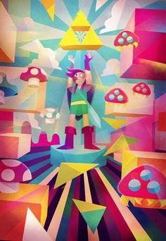 Convidado para expor sua arte na 3NES Show, uma mostra inspirada nos heróis do Nintendo, Carlos Lerma criou uma peça em homenagem ao Super Mario, Zelda e Metroid. O resultado não poderia ter sido mais legal!