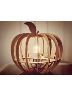 Cute Apple Roundness Wooden Table Lamps