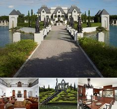 Chateau Artisan  Location: Miami   Price: 10.9 million   Bedrooms: 8   Bathrooms: 10   Square Footage: 10,124   It's been said that luxury homes are America's castles, but this one in Miami comes with a massive moat. This mansion , built in 2007, takes the royalty theme further, beginning with a dramatic wrought iron gate entrance, and the home's towers have pointy vaulted ceiling bedrooms.