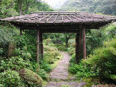 Tea garden at the Hotel Yoshiike - Hakone, Japan