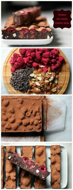 These no-bake, vegan, gluten-free fudge bars are delicious! #glutenfree #vegan