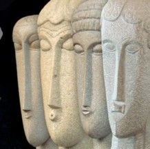 Untitled (heads) by France-based Italian sculptor painter Amadeo Modigliani via arte y galerias Amedeo Modigliani, Italian Sculptors, Head Statue, Sculptures Céramiques, Modern Sculpture, Stone Sculpture, Abstract Sculpture, Stone Carving, Land Art
