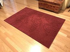 4x6 Custom Carved Area Rug - Birds, Branch, Grapes, Leaves