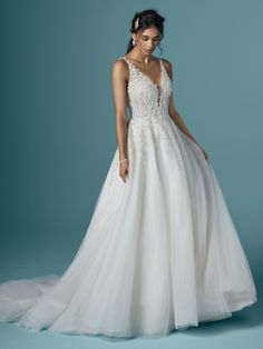 Maggie Sottero - TALIA, You must have sparkle. You must have shine. You must have a ball gown wedding dress made for dance floors and magical lighting.