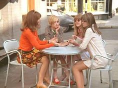 """helenmccartney: """"Twiggy, Jenny Boyd, Chrissie Shrimpton and Samantha Juste filming for a special I Love Lucy episode - May """" Chrissie Shrimpton, Jean Shrimpton, I Love Lucy Episodes, Mick Fleetwood, The Dave Clark Five, Julian Lennon, Sixties Fashion, The Monkees, First Tv"""