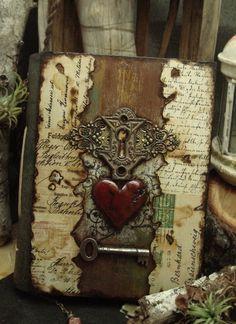My+Heart+Will+Go+On+-+Mixed+Media+Handmade+Book+1.JPG 728×1000 pixels