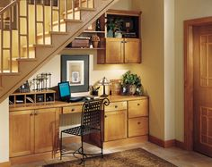 """""""Our house doesn't need to be bigger, only smarter."""" … An empty closet space or forgotten under stairs nook could be your future home office, craft center, or institute of higher learning. Oh the possibilities!"""