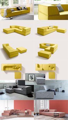 TRIO seating elements. COR Sitzmöbel Helmut Lübke | Design by Karl Odermat & Franz Hero