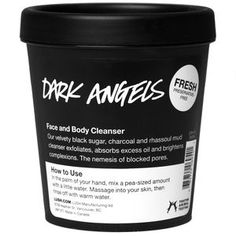 Dark Angels charcoal face and body cleanser