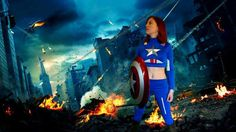 Captain America cosplayer   #cosplay #capainamerica #photoshop #greenscreen #halloweenideas