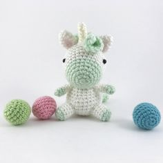 Amigurumi Unicorn, Crochet Unicorn, Stuffed Unicorn Doll, Kawaii Amigurumi, Softie Plush Horse, Crochet Animal, Little Amigurumi, Pastel, by MossyMaze on Etsy https://www.etsy.com/listing/543081368/amigurumi-unicorn-crochet-unicorn