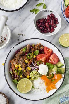 Wołowina z ryżem i warzywami