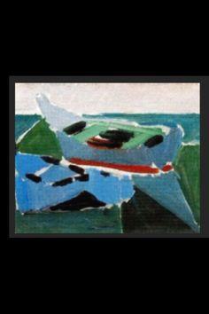 """Nicolas De Staël - """"Les Martigues"""", 1954 - Huile sur toile - 19 x 24 cm (*)"""