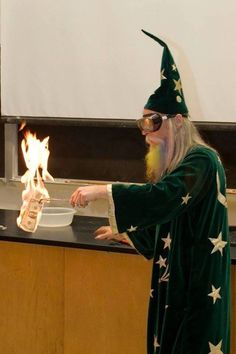 Weird & Wonderful Wednesday: According to my sources, this hirsute and magical chap is a Chemistry Professor. He obviously takes 'burning money' a little too literally.