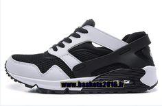Chaussures Nike Air Max 90 Current Huarache ND Pas Cher Officiel Pour Homme Noir - Blanc