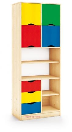 Mueble escolar maxicolor almacenaje alto