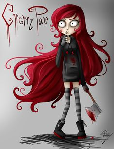 tim burton art | Cherry Pau Tim Burton Style by *Nasuki100 on deviantART