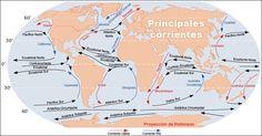 Mapa de Corrientes Marinas. Prácticas de Geografía ~ Aula de Historia