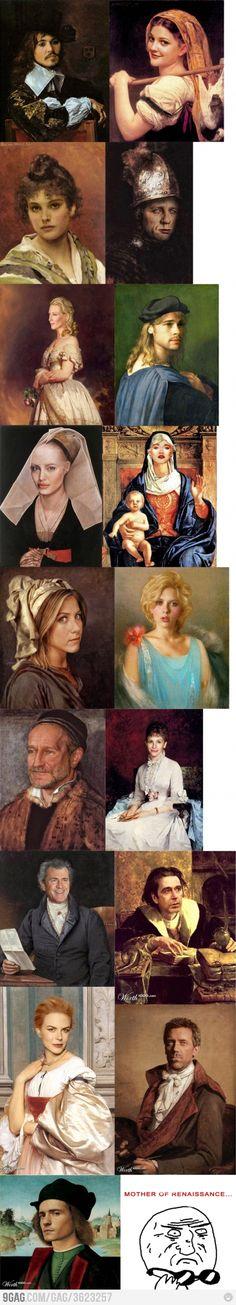 celebrities as renaissance paintings