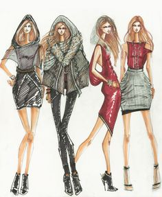 fashion illustration | Fashion Design by candace napier at Coroflot.com