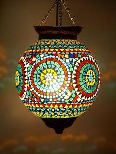 Happy Days Mosaic Lantern