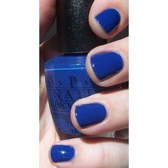 bLuE fingernail polish!