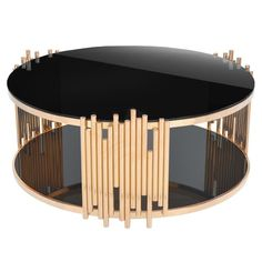 You'll love the Mauris Round Coffee Table with Magazine Rack at Wayfair - Great Deals on all Furniture products with Free Shipping on most stuff, even the big stuff. Barrel Coffee Table, Glass Top Coffee Table, Coffee Table With Storage, Round Coffee Table, Art Deco Coffee Table, Plywood Furniture, Table Furniture, Furniture Design, Moving Furniture