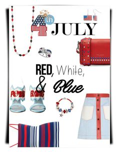 """Happy 4th July"" by fashionistamummy83 on Polyvore featuring Marc Jacobs, Fendi, Bling Jewelry, Dolce&Gabbana, Chiara Ferragni, Crystal Sophistication, Kim Rogers, Leona Edmiston, redwhiteandblue and july4th"