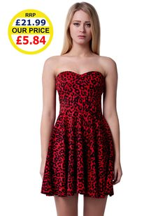UK Dropshipper Womens Fashion Leopard Print Skater Dress 1b5f0570d