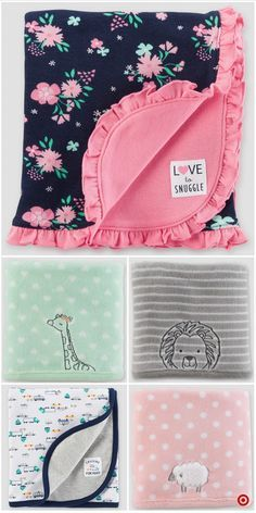 Shop Target For Receiving Blanket You Wi - Diy Crafts Baby Sewing Projects, Sewing For Kids, Sewing Crafts, Baby Receiving Blankets, Baby Boy Blankets, Baby Girl Quilts, Girls Quilts, Quilt Labels, Sewing For Beginners