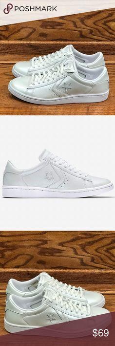Details about Converse Pro LEATHER LP All Star White Mid High Boots Women's sz8 sz8.5 SALE