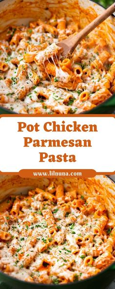 chicken parmesan Pot Chicken Parmesan Pasta Do you adore fowl parmesan, however dont love all the dishes that include it? Then this is the dish for you! One pot, 30 minutes! The pasta Easy Pasta Recipes, Kraft Recipes, Chicken Recipes, Easy Meals, Dinner Recipes, Cooking Recipes, Healthy Recipes, Salad Recipes, Cooking 101