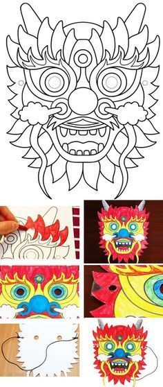 China Hotels - Amazing Deals on Hotels in China Chinese New Year Activities, New Years Activities, Chinese Party, Dragon Mask, Chinese New Year Crafts, New Year's Crafts, Thinking Day, Cardboard Crafts, Colouring Pages