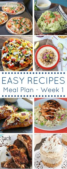 7 Bloggers bringing you 8 weekly recipes - The Easy Dinner Recipes Meal Plan .