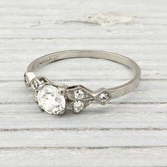 .50 Carat Vintage Diamond Engagement Ring | Erstwhile Jewelry Co.