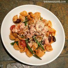 Feasting on this #mediterranean light delight for dinner tonight  Salmon Nicoise Pasta! #poetandiknowit  shenannagans.com