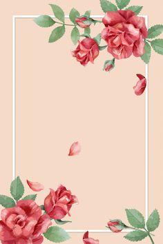 Pink Background Images, Rose Background, Flower Backgrounds, Wallpaper Backgrounds, Molduras Vintage, Flower Graphic Design, White Rose Flower, Rosa Pink, Black Phone Wallpaper