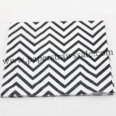 Black and White Chevron Paper Napkins  http://www.paperstrawssale.com/black-and-white-chevron-paper-napkins-300pcs-p-776.html