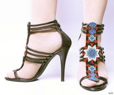new $1295 GIUSEPPE ZANOTTI for BALMAIN black blue BEADED Tstrap gladiator shoes  #GiuseppeZanotti #Gladiator
