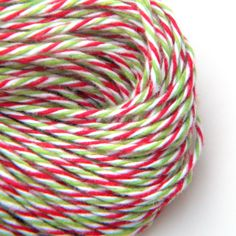 Christmas Baker's Divine Twine , Red and Green, 25 yards or 75 feet, Limited Holiday Edition. $3.00, via Etsy.