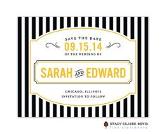 French bistro Save the Date card