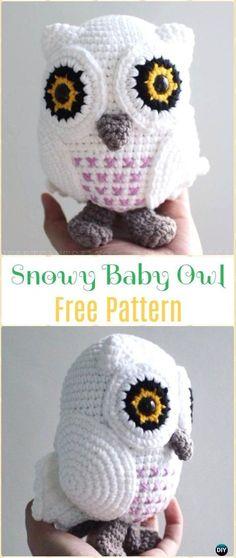 Crochet Snowy Baby Owl Amigurumi Free Pattern - Amigurumi Crochet Owl Free Patterns