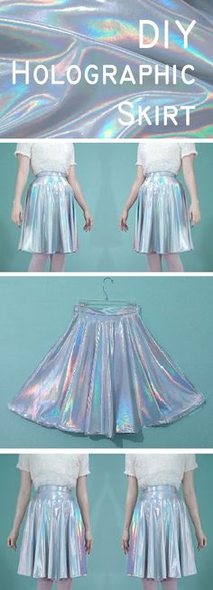 Viva La DIY: Holographic Skirt,I'd probably add tulle or something to make it have a better structure