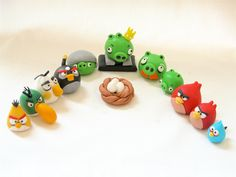 3D Fondant Angry Birds Inspired Cake/Cupcake Toppers. $36.00, via Etsy.
