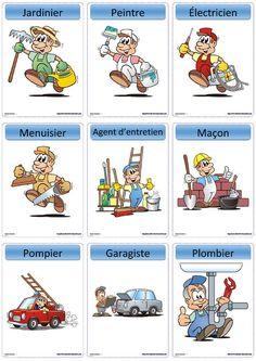 Une version du célèbre jeu Devine tête sur le thème des métiers.