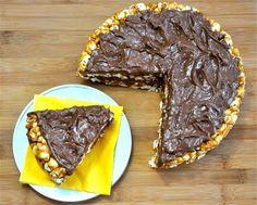 peanut butter popcorn cake #vegan