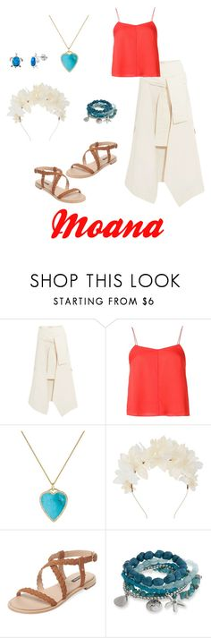 """Moana Disney Bound"" by disney-nerd-designs ❤ liked on Polyvore featuring Marni, T By Alexander Wang, Jennifer Meyer Jewelry, Lizzie Fortunato, Ava & Aiden and Erica Lyons"